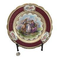 Royal Vienna Style Austrian Angelica Kaufmann Cabinet Plate #2