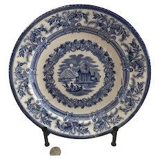 Ironstone Blue Transferware Plate