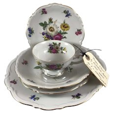 """Meissen Floral"" by Mittertsich, Bavaria China Service for 8"