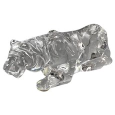 Baccarat Crystal Tiger Figurine/Paperweight