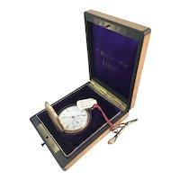 Swiss 1850's Key Wind Francis Mathile, Locle Switzerland Pocket Watch & Original Box
