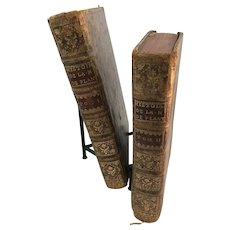 Royal Plantagenet History 2 Volume Set of Books by David Hume Circa 1765