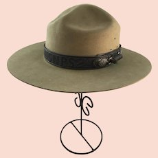 US National Park Service Flat Hat Montana Pinch