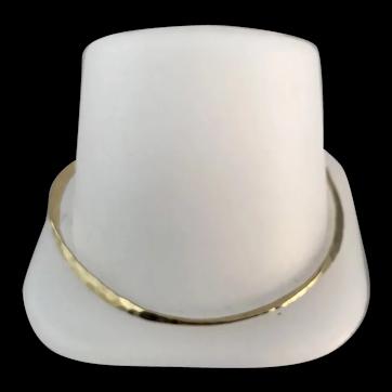 14k Gold Artisan Style hammered Bangle Bracelet