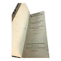 Circa 1834 German Funeral Undertaker Booklet