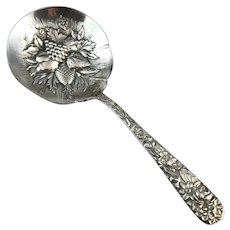 Sterling Silver Kirk & Sons Repousse Candy/Bon Bon Spoon