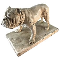 English Bulldog Statue Copper-clad
