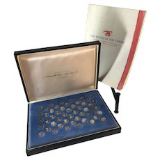 States of the Union Sterling Silver Mini Coin set.  First Edition 1969