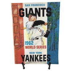 1962 Official Program World Series Yankees/Dodgers