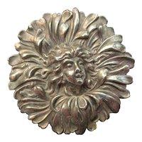 Art Nouveau Sterling Silver Daisy Flower Fairy Brooch