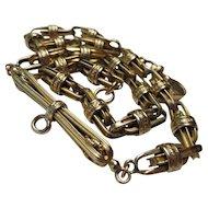 Fine Victorian 14k Gold Bookchain Necklace Watch Chain