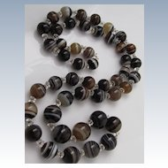 Victorian Era Banded Agate Necklace