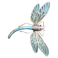 Victorian Plique-a-Jour Dragonfly, Articulated
