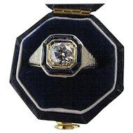 Vintage 1920's Art Deco Old European Cut Diamond Ring