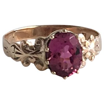 Vintage 14K Rose Gold Tourmaline Ring