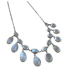 Victorian  Moonstone 9K Gold Necklace