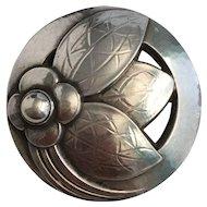 Vintage Georg Jensen Sterling Silver Brooch Pin