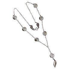 Art Deco Pools of Light Rock Crystal Sterling Necklace