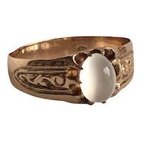 Victorian Moonstone 14K Rose Gold Ring