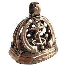Victorian Anchor 10K Rose Gold Watch Fob