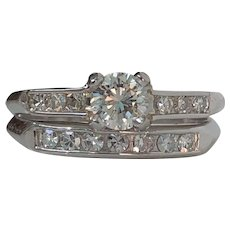 Vintage Diamond Platinum Engagement Wedding Ring