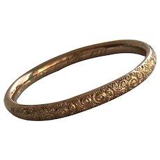 Victorian 10K Gold Bangle Bracelet