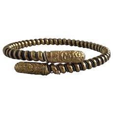 Victorian 18K Gold Adjustable Bangle Bracelet