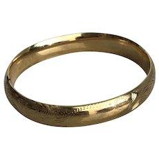 Vintage Engraved 14K Gold Bracelet
