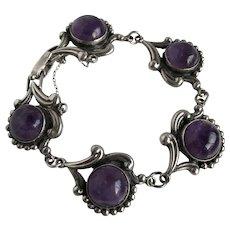 Los Castillo Amethyst Mexican Sterling Bracelet