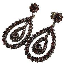 Vintage Garnet Drop Earrings