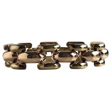 Retro Mid Century 14K Gold Link Bracelet