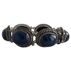 Vintage Sodalite Sterling Silver Bracelet