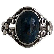 Arts & Crafts Sodalite Silver Ring