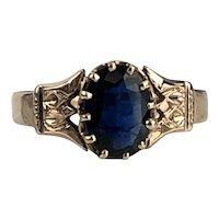Victorian Sapphire 10K Gold Ring