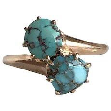 Vintage Turquoise 14K Gold Ring