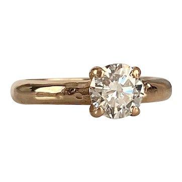 Vintage .85ct Diamond 14K Gold Engagement Ring
