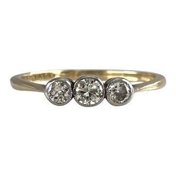 Vintage Diamond Stacking 18K & Platinum Ring