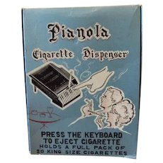 Pianola Cigarette Dispenser in Original Box Nichols College 1967