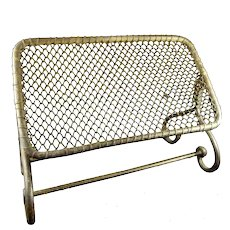 Vintage Fireplace Swinging Wire Footrest