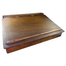 Welsh Walnut Portable Writing Desk c. 1895