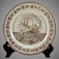 T & R Boote England YOSEMITE Brown Aesthetic Plate