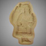 Santa Cookie Mold Brown Bag Cookie Art 1983