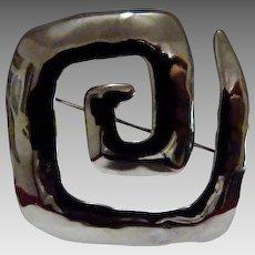 Vintage Jonette Silver-tone Brooch Pin