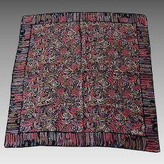 Vintage LIBERTY of LONDON Silk Square Scarf 22.5 inches