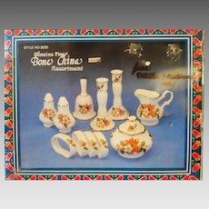 Vintage Boxed Bone China Christmas Set