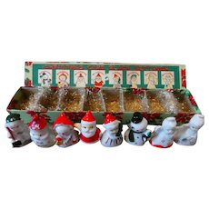 Vintage Boxed Set Christmas Place Card Holders