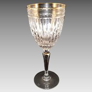 Waterford Hanover Gold Marquis Collection Gold Trim Water Goblets