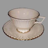 LENOX Footed Cup and Saucer Citation Gold Pattern