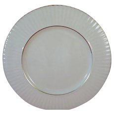 LENOX Citation Gold 11 inch Dinner Plate, Temple Collection, Ribbed Rim. Made in USA.