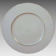 LENOX Citation Gold 8.5 inch Salad Plate, Temple Collection, Ribbed Rim. Made in USA.